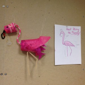Perry, the Flamingo, Sculpture: Julia Kron