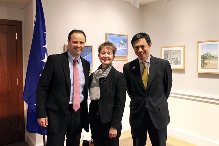 LHoffman-DK, Hoyt Yee, Bosnian embassy