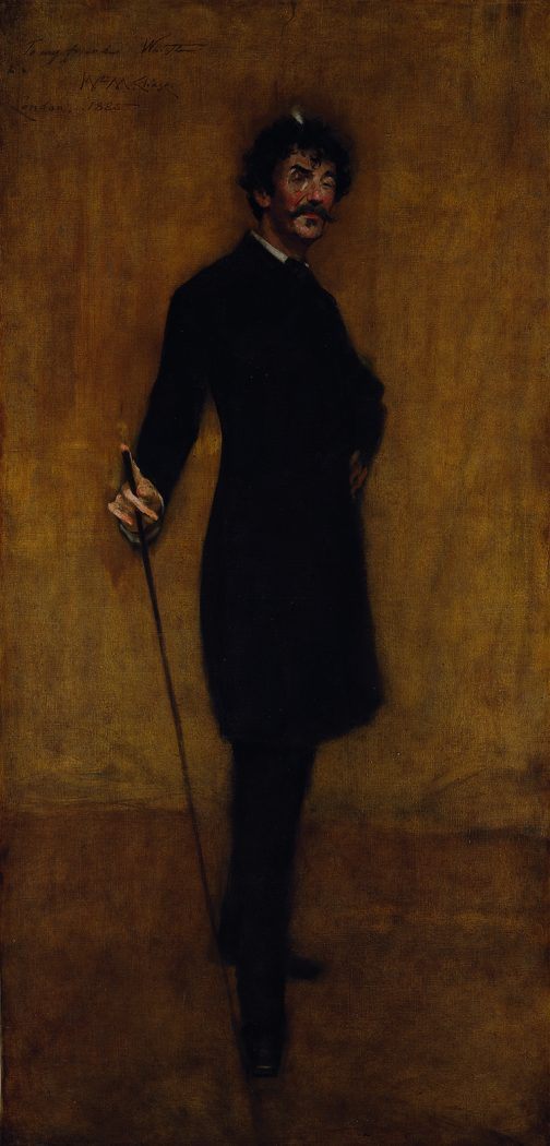 Portrait of James Abbott McNeill Whistler by William Merritt Chase