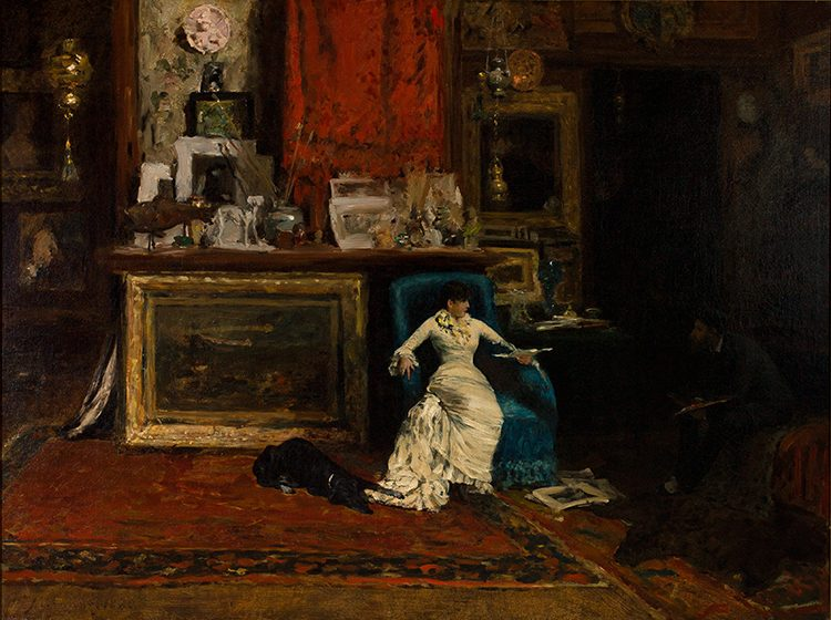The Tenth Street Studio, 1880 (oil on canvas) by Chase, William Merritt