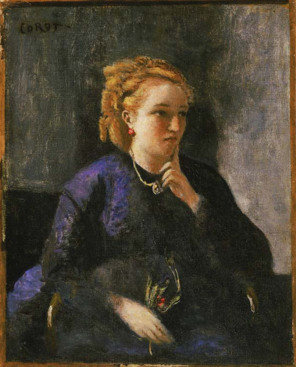 Corot_portrait of a woman