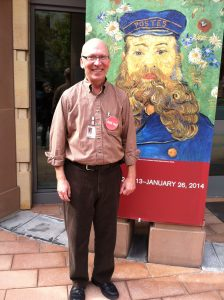 Chuck McCorkle standing in front of The Phillips Collection