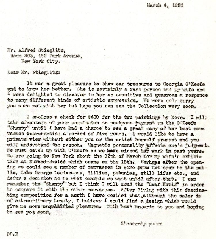 DP to Stieglitz letter_03.04.1926