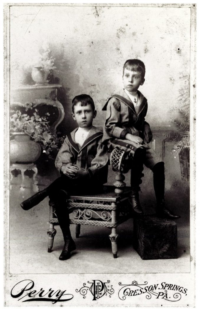Duncan and Jim as boys
