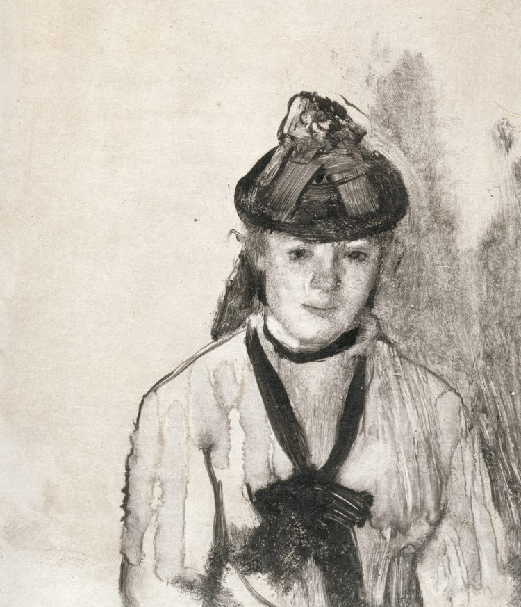 Edgar Degas, Portrait of Ellen Andrée, 1876