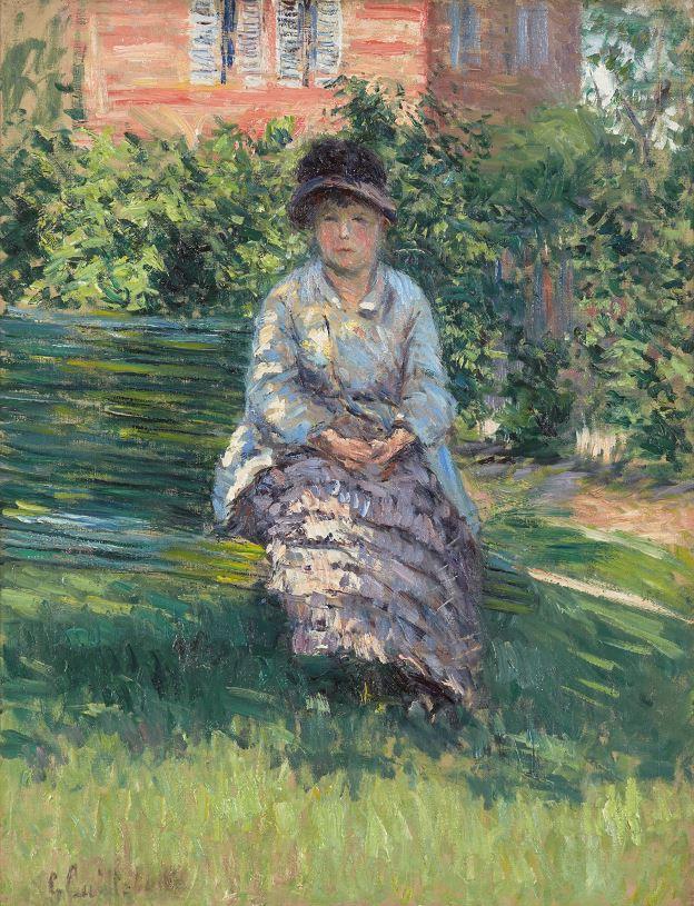 Gustave Caillebotte, Madame Renoir in the Garden at Petit Gennevilliers (Madame Renoir dans le jardin du Petit-Gennevilliers), 1891