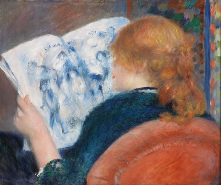 Pierre-Auguste Renoir, Young Woman Reading an Illustrated Journal, c. 1880
