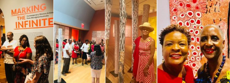 Members of the Delta Sigma Theta Sorority join The Phillips Collection's Chief Diversity Officer, Makeba Clay to explore Marking the Infinite.