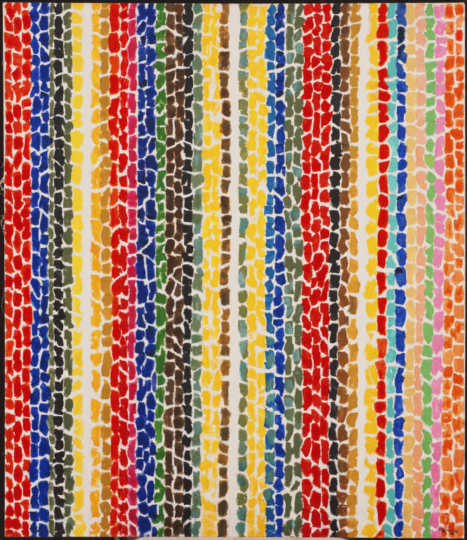 "Alma Thomas; ""Breeze Rustling Through Fall Flowers"", 1968, 57 7/8 x 50 in.; Acrylic on canvas; The Phillips Collection; Gift of Franz Bader, 1976"
