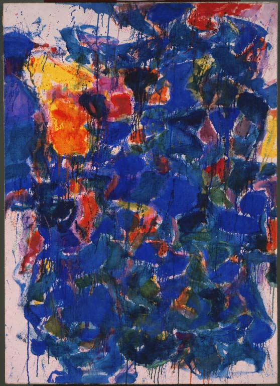"Sam Francis, ""Blue"", 1958, Oil on canvas; 48 1/4 x 34 3/4 in.; The Phillips Collection; Acquired 1958; © 2009 Samuel L. Francis Foundation, California/ Artists Rights Society (ARS), NY."