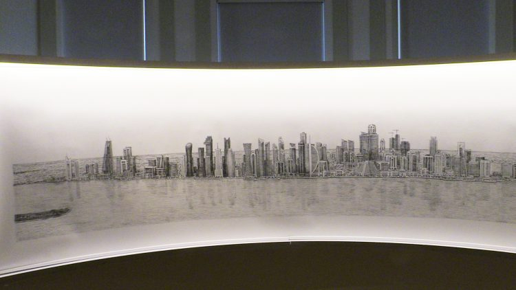 Stephen Wiltshire's canvas, photographed by Victor Pierre