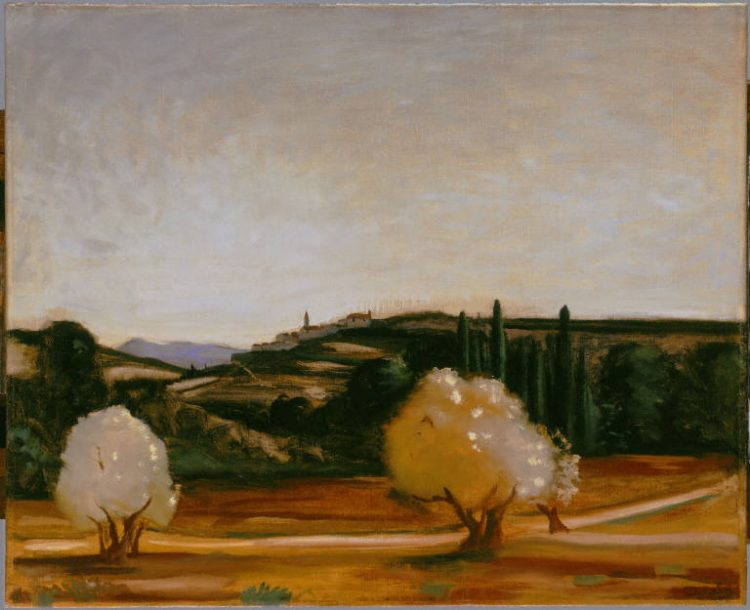 "Andre Derain, ""Southern France"", created between 1925 and 1927, Oil on canvas, 29 7/8 x 36 5/8 in., The Phillips Collection, Acquired 1927; © 2015 Artists Rights Society (ARS), New York / ADAGP, Paris"