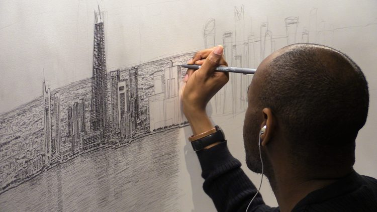Stephen Wiltshire, photographed by Victor Pierre