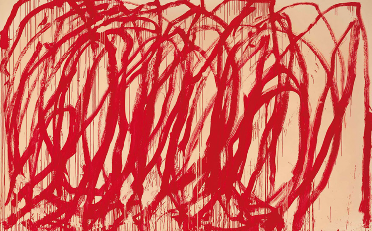 Cy Twombly (1928-2011), Untitled, 2005. 128 x 194½ in (325.1 x 494 cm). This work was offered in the Post-War & Contemporary Art Evening Sale on 15 November 2017 at Christie's in New York.