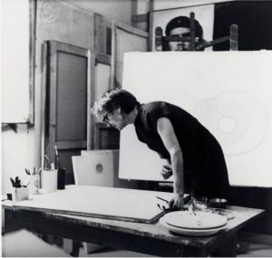 Bice Lazzari in her studio in Rome_Photo by Sergio Pucci