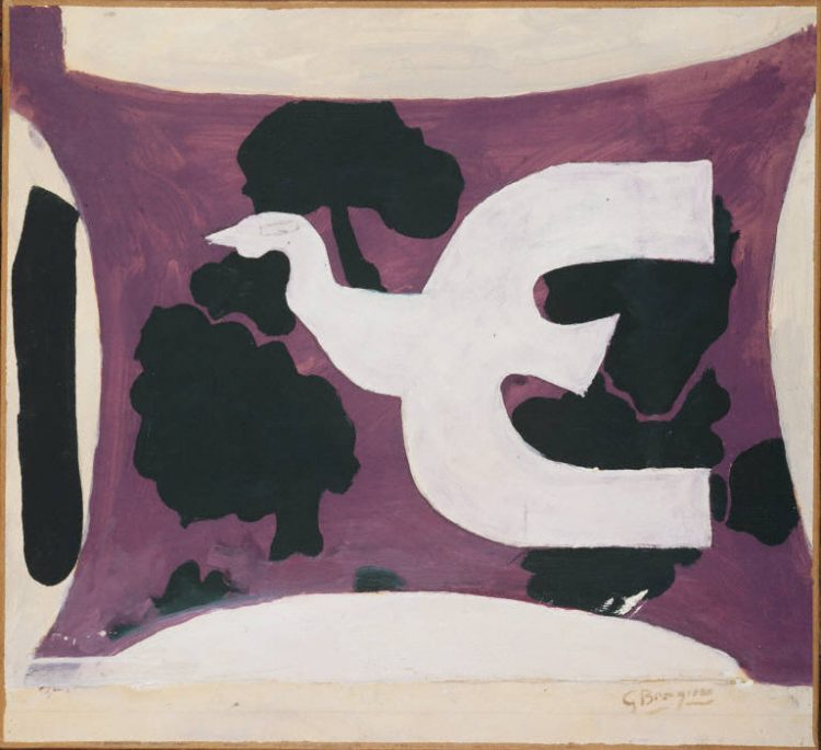 "Figure 6,""Bird,"" oil on canvas, Georges Braque, 1956"