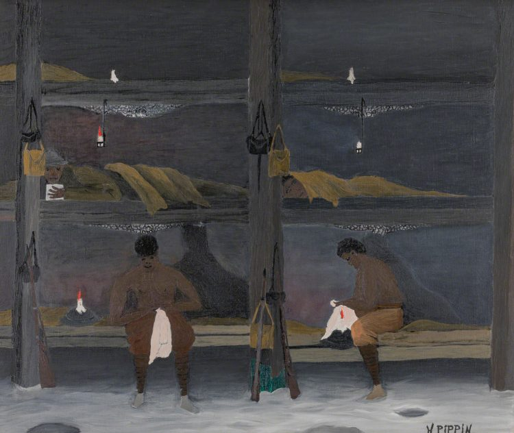 """The Barracks"", Horace Pippin, 1945, Oil on canvas, 25 1/4 x 30 in.; Acquired 1946"
