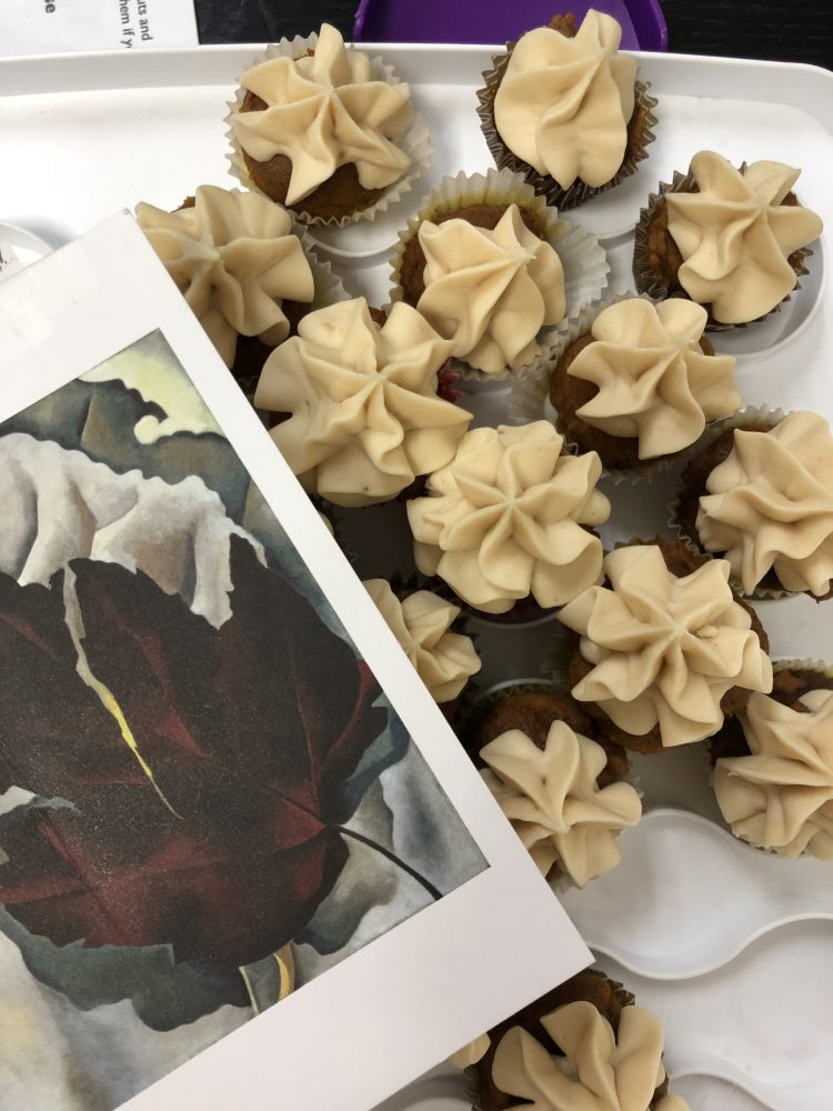 O'Keeffe inspired cupcakes by Emily Rader
