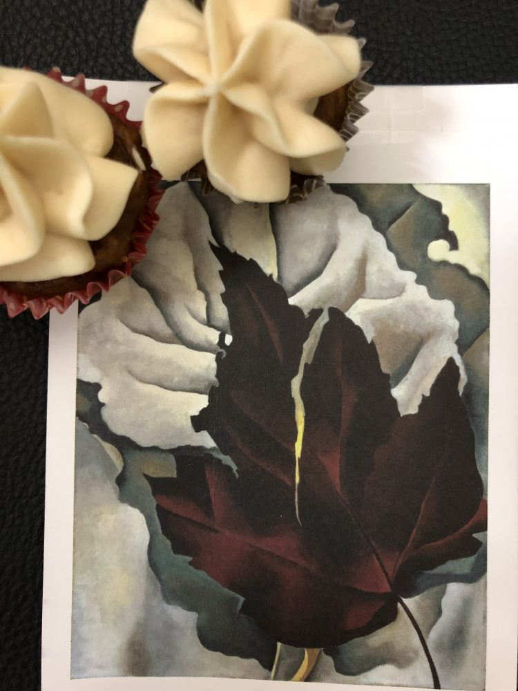 Cupcakes inspired by Georgia O'Keeffe by Emily Rader