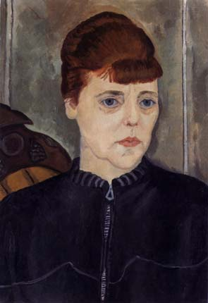 "I, 1935. Oil on canvas, 19 1/4"" x 13 1/4"". Smith Collecge Museum of Art, Northampton, MA"