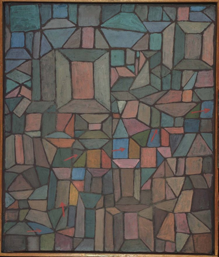 Paul Klee, The Way to the Citadel, 1937, Oil on canvas mounted on cardboard, 26 3/8 x 22 3/8 in., The Phillips Collection, Acquired 1940