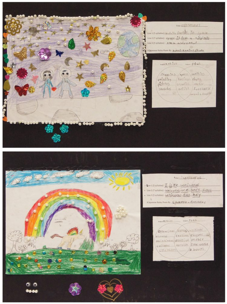 Samples of artwork from created in response to William Christenberry's artwork