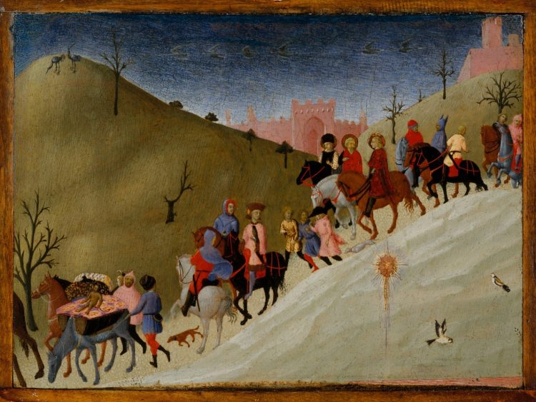 Sassetta (Stefano di Giovanni) (Italian, Siena or Cortona ca. 1400–1450 Siena), 1433–35, Tempera and gold on wood, 8 1/2 x 11 3/4 in., Maitland F. Griggs Collection, Bequest of Maitland F. Griggs, 1943, The Metropolitan Museum of Art,