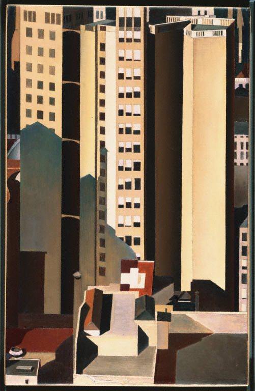 Charles Sheeler, Skyscrapers, 1922, Oil on canvas, 20 x 13 in., The Phillips Collection, Acquired 1926