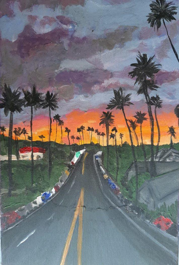 Jovana Knezevic Brankovic, Sunset Boulevard 2018 Acrlylic on canvas