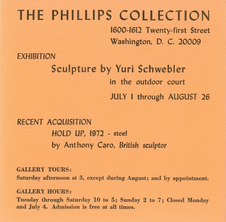 Exhibition Postcard Image courtesy of The Phillips Collection Archives