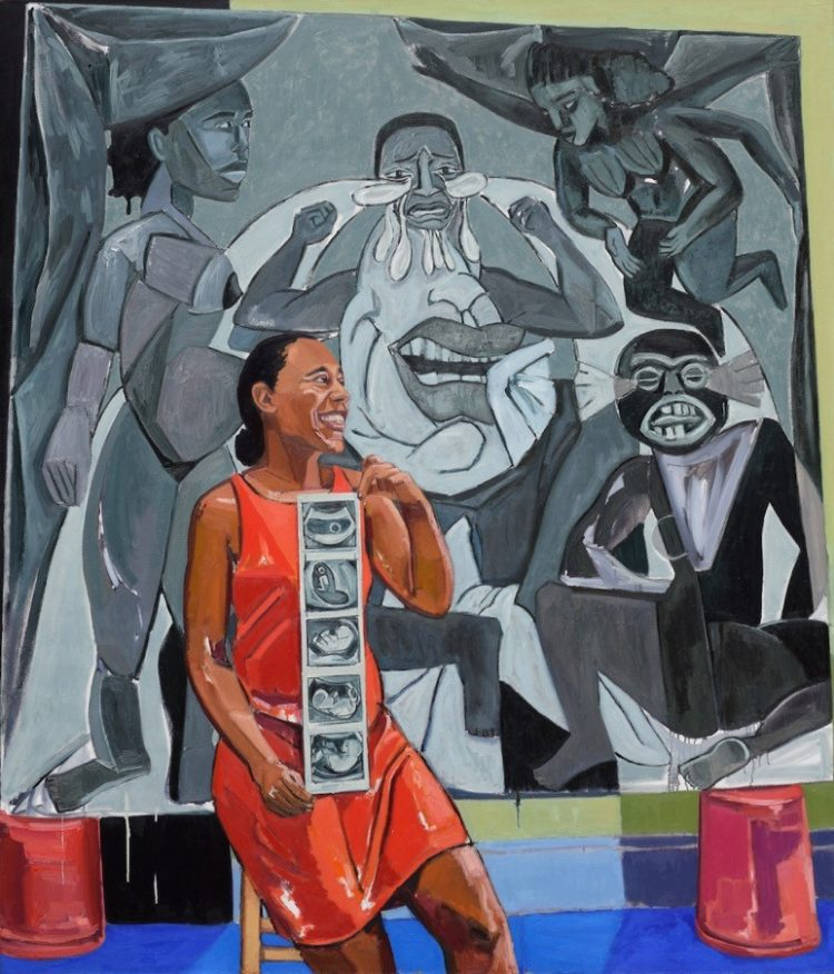 Image of Mequitta Ahuja's painting Le Damn Revisited